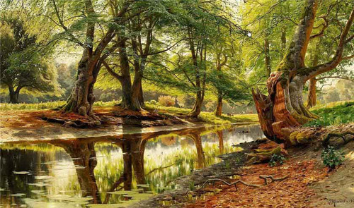 A Stream In Dyrehaven By Peder Mork Monsted