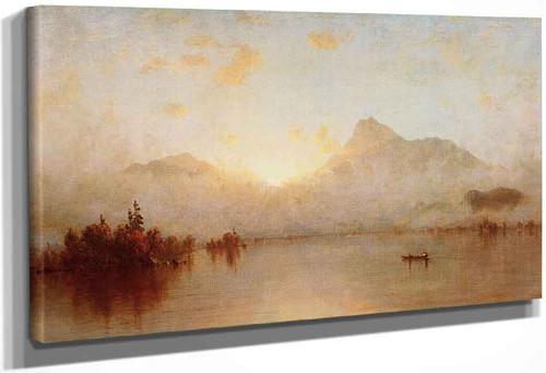 A Sunrise On Lake George By Sanford Robinson Gifford