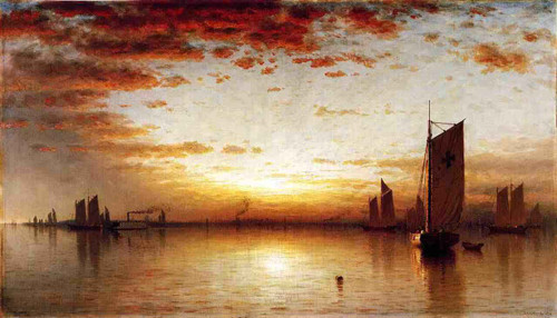 A Sunset, Bay Of New York By Sanford Robinson Gifford