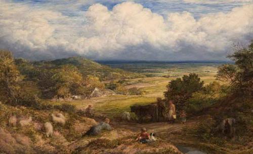 A Surrey Landscape By John Linnell By John Linnell