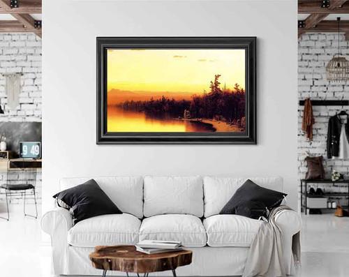 A Twilight In The Adirondacks By Sanford Robinson Gifford