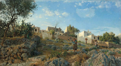 A View Of Anacapri By Peder Mork Monsted