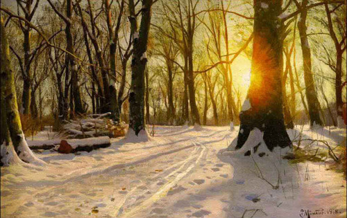 A Winter Day In Charlottenlund By Peder Mork Monsted