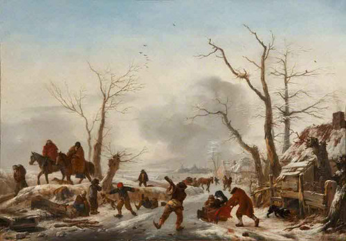A Winter Landscape By Philips Wouwerman Dutch 1619 1668
