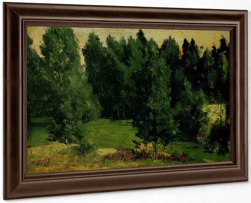 A Wooded Landscape 2 By Sir Edward John Poynter