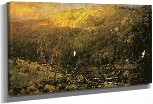 A Wooded Mountain Landscape By William Louis Sonntag