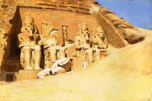 Abu Simbel By Frederick Arthur Bridgman