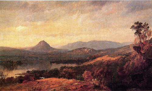 Adam And Eve Mountains By Jasper Francis Cropsey By Jasper Francis Cropsey