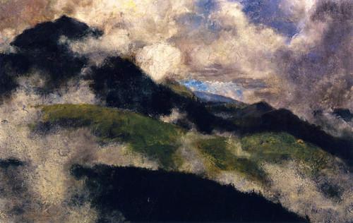 Alpine Landscape With Rising Fog By Franz Marc By Franz Marc