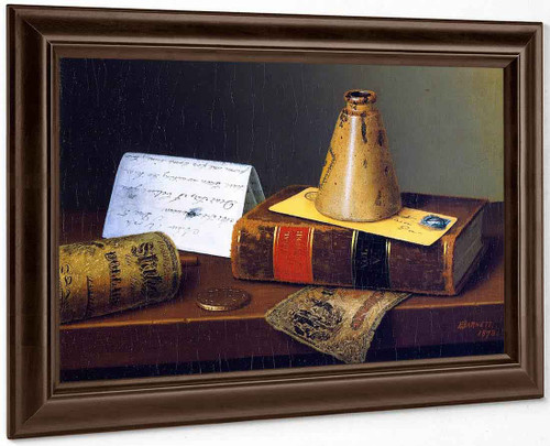 American Exchange By William Michael Harnett By William Michael Harnett