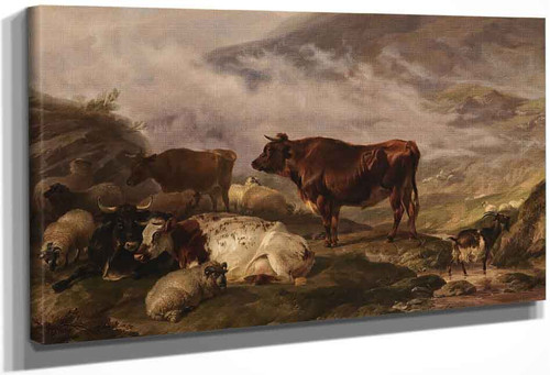 Among The Cumberland Mountains Mist Clearing Off By Thomas Sidney Cooper By Thomas Sidney Cooper