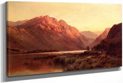 An Amberdeenshire Lake By Alfred De Breanski, Sr.