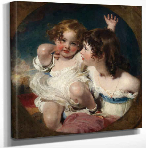 The Calmady Children By Sir Thomas Lawrence Art Reproduction