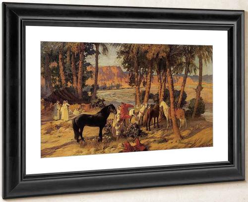 An Arab Encampment By Frederick Arthur Bridgman