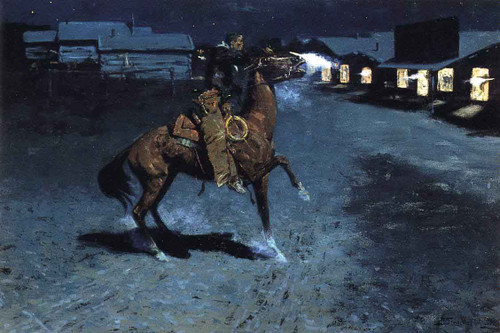 An Arguement With The Town Marshall By Frederic Remington