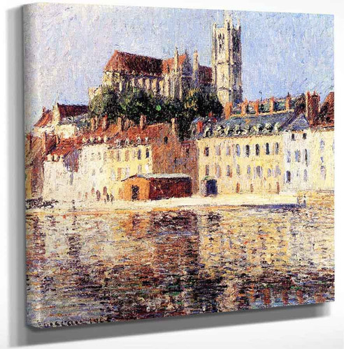 The Cathedral At Auxerre By Gustave Loiseau Art Reproduction