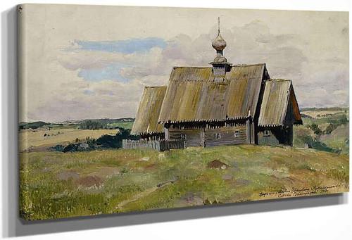 An Old Church By Sergei Arsenevich Vinogradov Russian 1869 1938