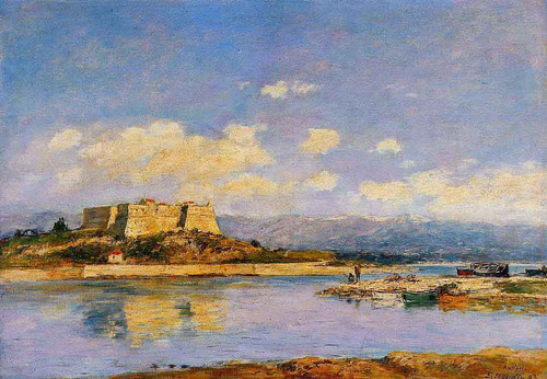 Antibes, Fort Carre By Eugene Louis Boudin