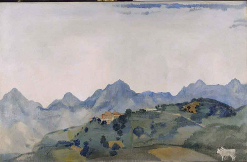 Apuan Mountains, Lucca By Arthur B. Davies