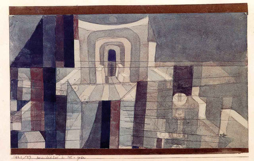Architecture In Red And Green By Paul Klee