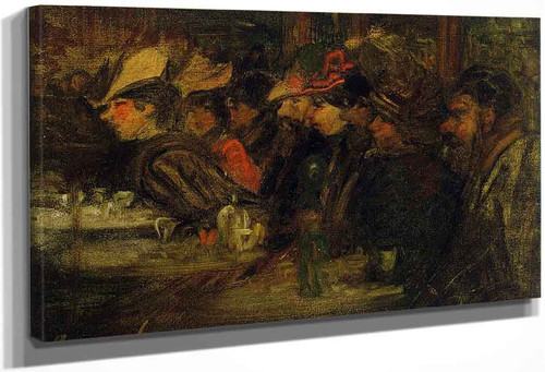 At The Cafe By George Benjamin Luks