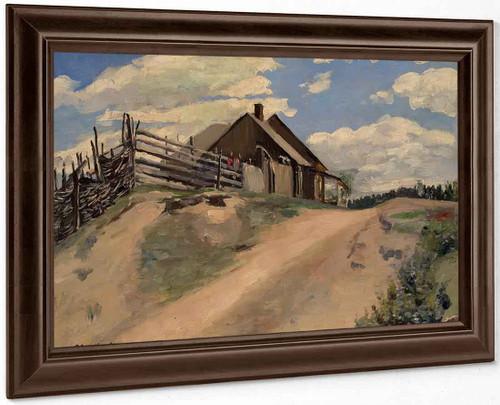 At The Edge Of The Village By Sergei Arsenevich Vinogradov Russian 1869 1938