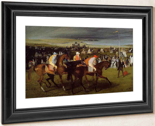 At The Races The Start By Edgar Degas