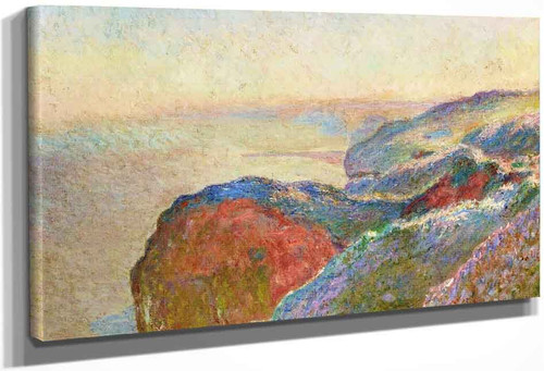 At Val Saint Nicolas Near Dieppe, Morning By Claude Oscar Monet