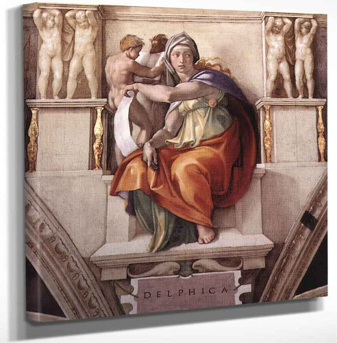 The Delphic Sibyl By Michelangelo Buonarroti Art Reproduction
