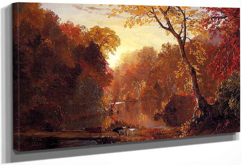 Autumn In North America By Frederic Edwin Church By Frederic Edwin Church