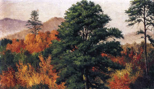 Autumn Scene In The North Carolina Mountains By William Aiken Walker