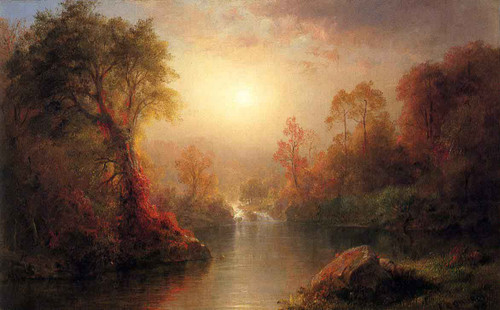 Autumn By Frederic Edwin Church By Frederic Edwin Church