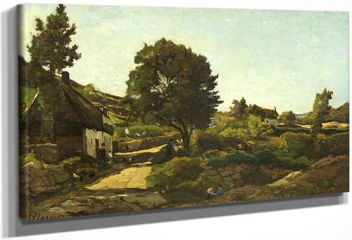 Avallon By Henri Joseph Harpignies, Aka Henri Harpignies