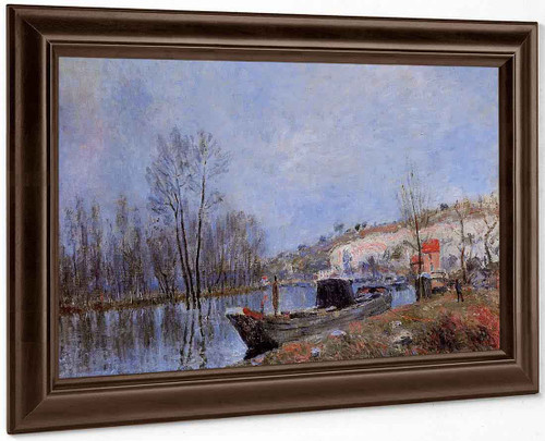 Banks Of The Loing Towards Moret By Alfred Sisley