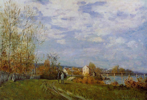 Banks Of The Seine At Bougival By Alfred Sisley