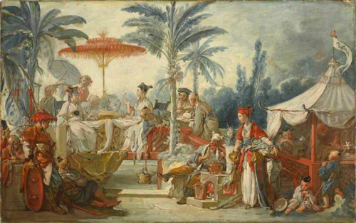 Banquest Of The Chinese Emperor By Francois Boucher