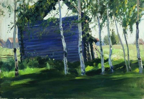 Barns By Sergei Arsenevich Vinogradov Russian 1869 1938