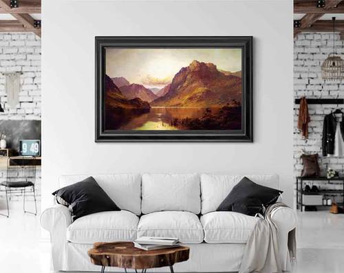 Ben Nevis At Sunrise By Alfred De Breanski, Sr.