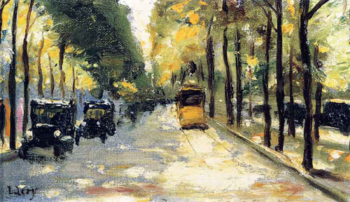 Berlin Street In The Sunshine By Lesser Ury