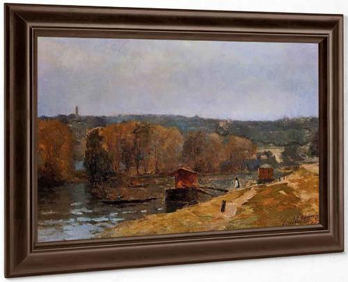 Billancourt Landscape By Albert Lebourg By Albert Lebourg