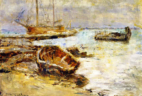 Boats At Williamstown, Melbourne By Frederick Mccubbin