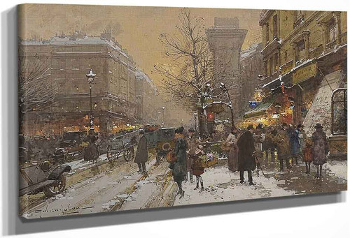 Boulevard In Paris By Eugene Galien Laloue