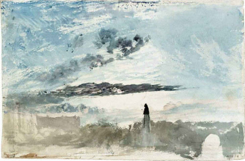 Bridge And Monument By Joseph Mallord William Turner