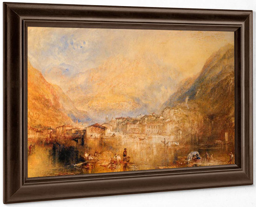Brunnen, From The Lake Of Lucerne By Joseph Mallord William Turner