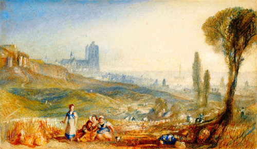 Brussels, A Distant View By Joseph Mallord William Turner