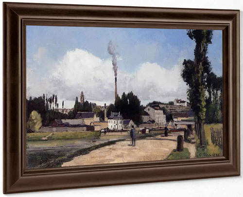 By The Oise At Pontoise By Camille Pissarro
