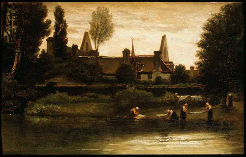 By The River By William Morris Hunt