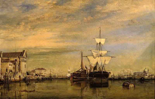 Canal Of The Giudecca, Venice By Edward William Cooke, R.A.