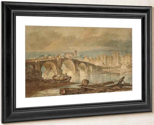 Cardiff Bridge And Castle By Joseph Mallord William Turner
