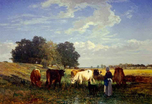 Cattle Grazing In Touraine By Constant Troyon